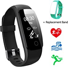 Lintelek Fitness Tracker HR Activity Tracker Watch with Sleep Monitor, Smart Fitness Band with Weather Display, Step Counter, Calorie Counter, Pedometer Watch for Kids Women and Men