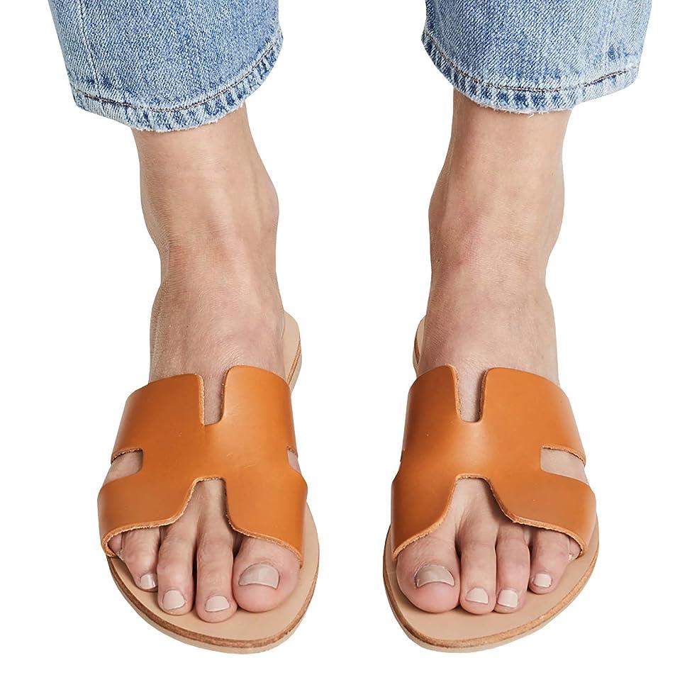 FISACE Womens Summer Bow Tie Flip Flops Flat Sandals Anti-Slip Summer Beach Thong Slipper
