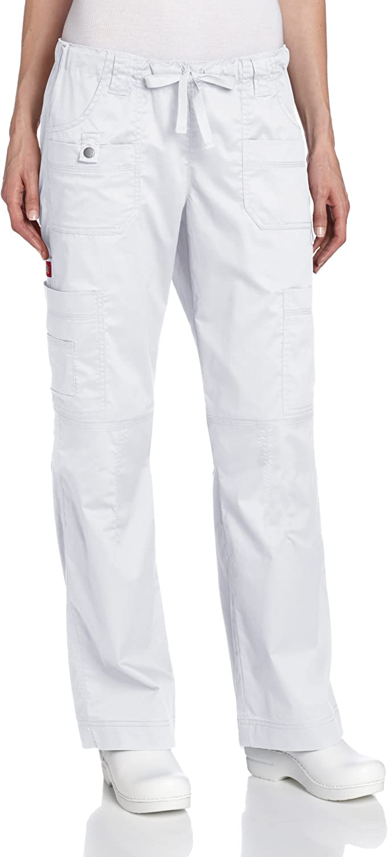 Dickies Scrubs Women's Gen Flex Fit Solid Stitch Cargo Pant