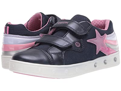 Geox Kids Skylin 5 (Little Kid/Big Kid) (Navy) Girl