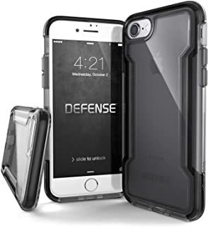 X-Doria iPhone 8 & iPhone 7 Case, Defense Clear Series - Military Grade Drop Protection, Clear Protective Case for iPhone 8 & 7 (Black)