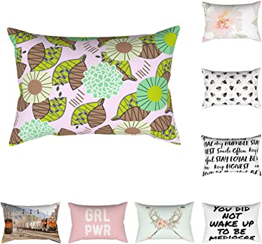 Anniston Pillowcase, 30x50cm Decorative Rectangle Pillow Case Train Flower Letter Plant Cushion Cover Square Throw Pillow Cov