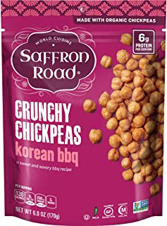 Saffron Road Organic Crunchy Chickpeas, Non-GMO, Gluten-Free, Halal, Korean BBQ, 6 Ounce