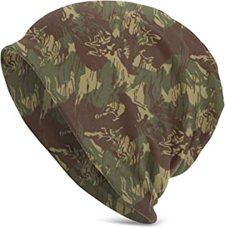 AnRanHommie Rhodesian Camo Unisex Stretchy Hedging Cap Casual Cap Knit Hat Beanie Hats