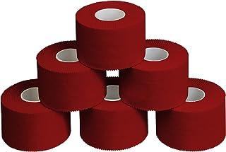 ALPIDEX 6 x Cinta Adhesiva Deportiva 3,8 cm x 10 m, Color:Rojo
