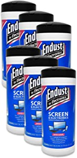 Endust For Electronics Screen And Electronics Surface Cleaning Wipes For TV, Phone, Monitor, Laptop, Tablet, Electronic Equipment, 70 Count, Pre-Moistened, Alcohol & Ammonia Free