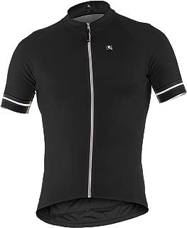 2015 Men's Fusion Short Sleeve Cycling Jersey, Black/White, XXXXXXX-Large