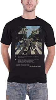 The Beatles T Shirt Abbey Road 8 Track 新しい 公式 メンズ