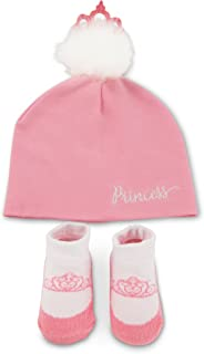 Disney Baby Girls' Princess Cotton Pom Hat and Terry Booties Gift Set