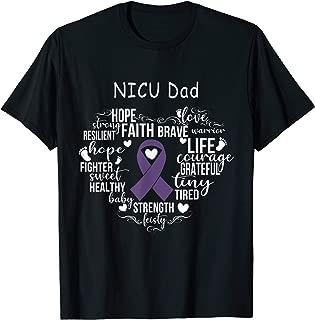 Mens NICU Dad Preemie Costume NICU Awareness Month Gift T-Shirt