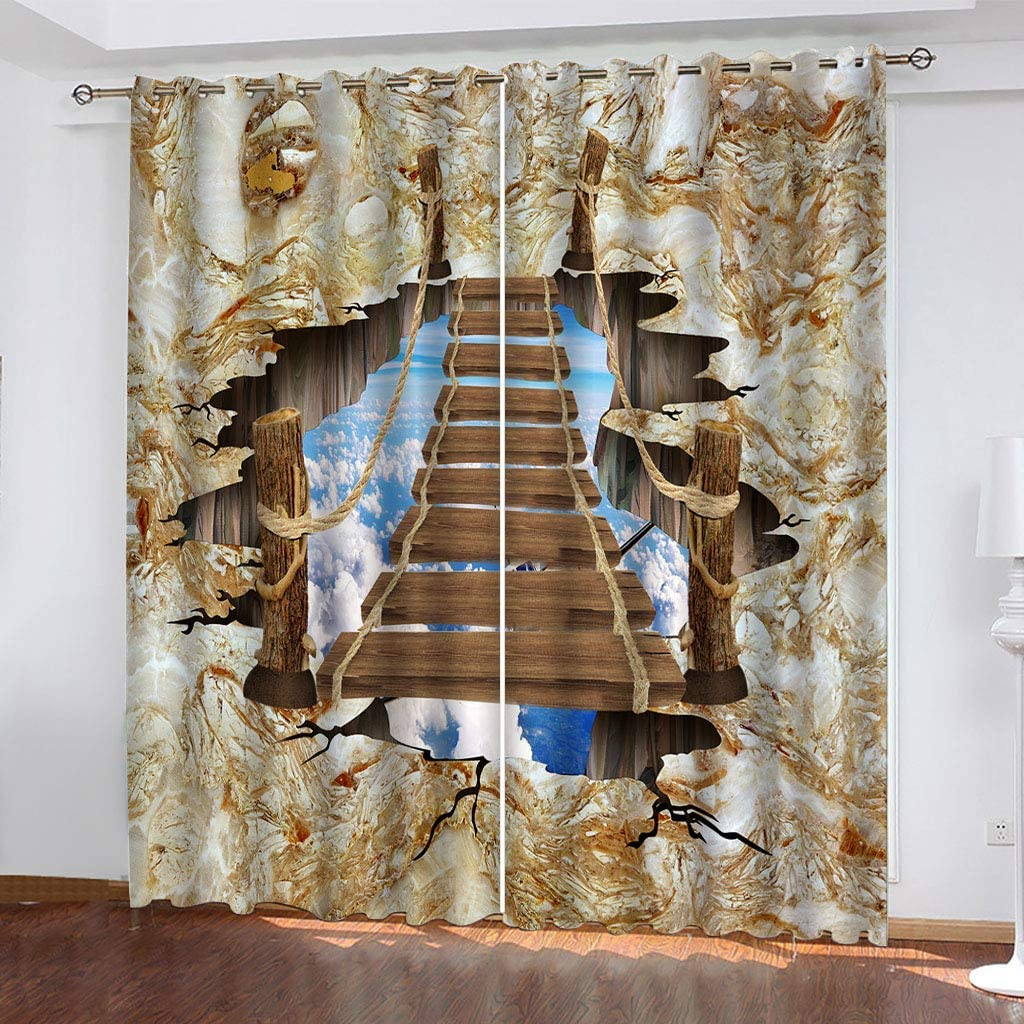 WWJNF Max 49% OFF Blackout Spring new work one after another Curtains Thermal Insulated - 94.4 Inch Lad 90.5 X