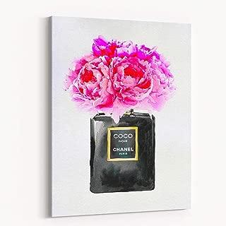 Fashion Glam Wall Art Poster Print Designer Perfume Bottle Flower