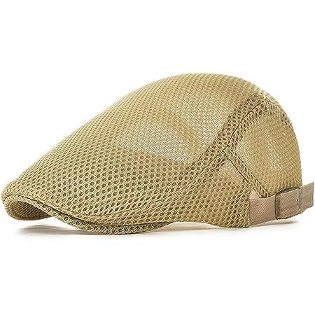 NALITARE Newsboy Beret Ivy Cap Cabbie Flat Cap Adjustable Men Breathable mesh Summer Hat