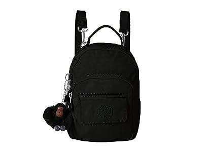 Kipling Alber Crossbody (Black) Cross Body Handbags