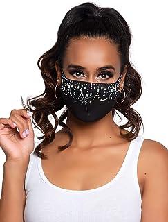 Rhinestone Fashionable Face Mask