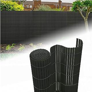 Lavabile//Grigio 120x500cm wolketon Canniccio di PVC//Incannucciata di Plastica Imitazione canne di bamb/ù//frangivista Recinzione Giardino//UV-Resistente