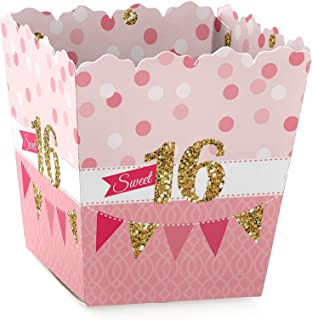 Big Dot of Happiness Sweet 16 - Party Mini Favor Boxes - Birthday Party Treat Candy Boxes - Set of 12