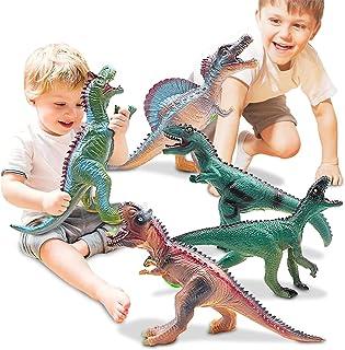 5 Piece Jumbo Dinosaur Toys for Dinosaur Party Favors, Jurassic World Figures T-Rex ,Spinosaurus Large Soft Dinosaur Toys ...