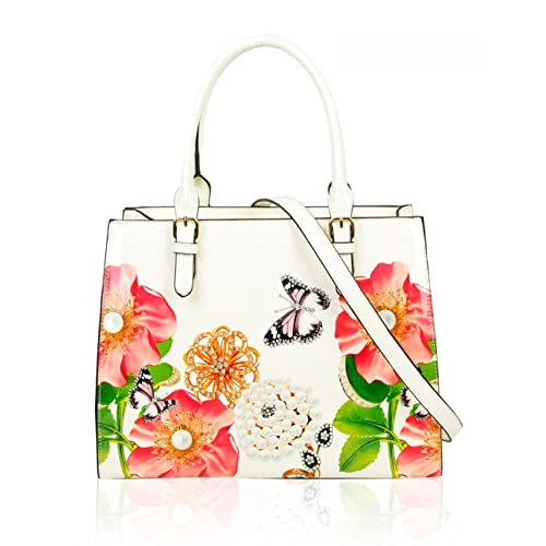 8d243d292744 LeahWard Women s Large Patent Flower Handbags Tote Bag For Women Holiday  Work College