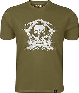 Marvel: Punisher Men's Round Neck T-shirt Royal Blue