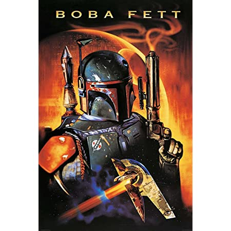 Painted Boba Fett Metall Blechschild Retro Metall gemalt Kunst Poster Dekoration Plaque Warnung Bar Cafe Garage Party Game Room Hauptdekoration