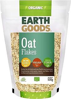 Earth Goods Organic Oat flakes, NON-GMO, Vegan; High Fiber 500g