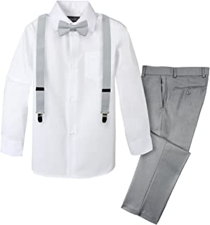 toddler grey suit with suspenders