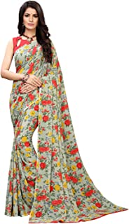 KANCHNAR Women's Georgette Saree With Blouse