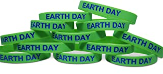 Novel Merk Earth Day Green World 12-Piece Party Favor & Carnival Prize Rubber Band Wristband Bracelet Accessory