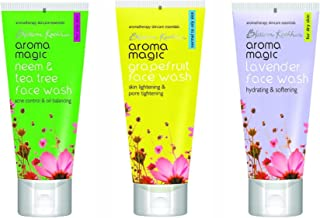 Aroma Magic Combo Face Wash Neem & Tea Tree,Grapefruit,Lavender 100Ml