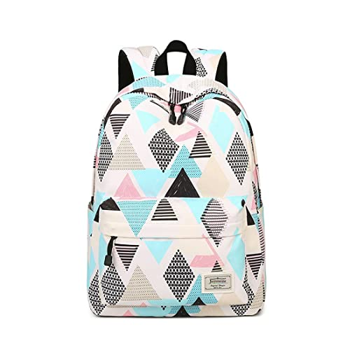 8d880e7393b Joymoze Waterproof School Backpack for Girls Middle School Cute Bookbag  Daypack for Women Rhombus 843