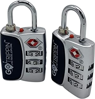 GoTrippin Metal Luggage Locks (Set of 2) (Multicolored_TSALOCK)