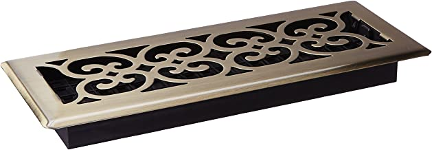 Decor Grates SPH412-A Floor Register, 4-Inch by 12-Inch, Antique Brass