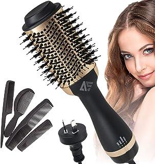 AUSELECT Hair Dryer Brush, Hot Air Brush, 4in1 One Step Hair Dryer & Volumizer AU Plug Hair Hot Dryer (Gold)