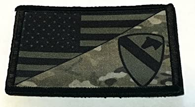 Subdued US Army 1st Cavalry Division USA Flag Morale Patch Tactical Military. 2x3