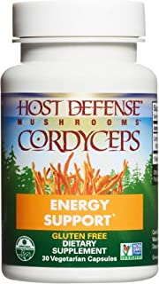Host Defense, Cordyceps Capsules, Energy and Stamina Support, Daily Dietary Supplement, USDA Organic, 30 Vegetarian Capsul...