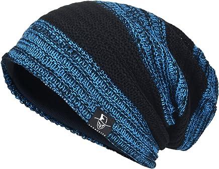 VECRY Men's Cool Cotton Beanie Slouch Skull Cap Long Baggy Hip-hop Winter Summer Hat B305