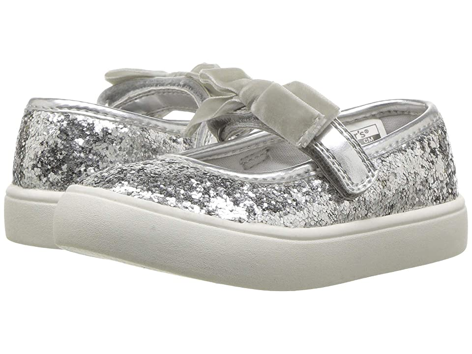 Carters Angelyn (Toddler/Little Kid) (Silver Glitter PU/Metallic PU/Velvet) Girl