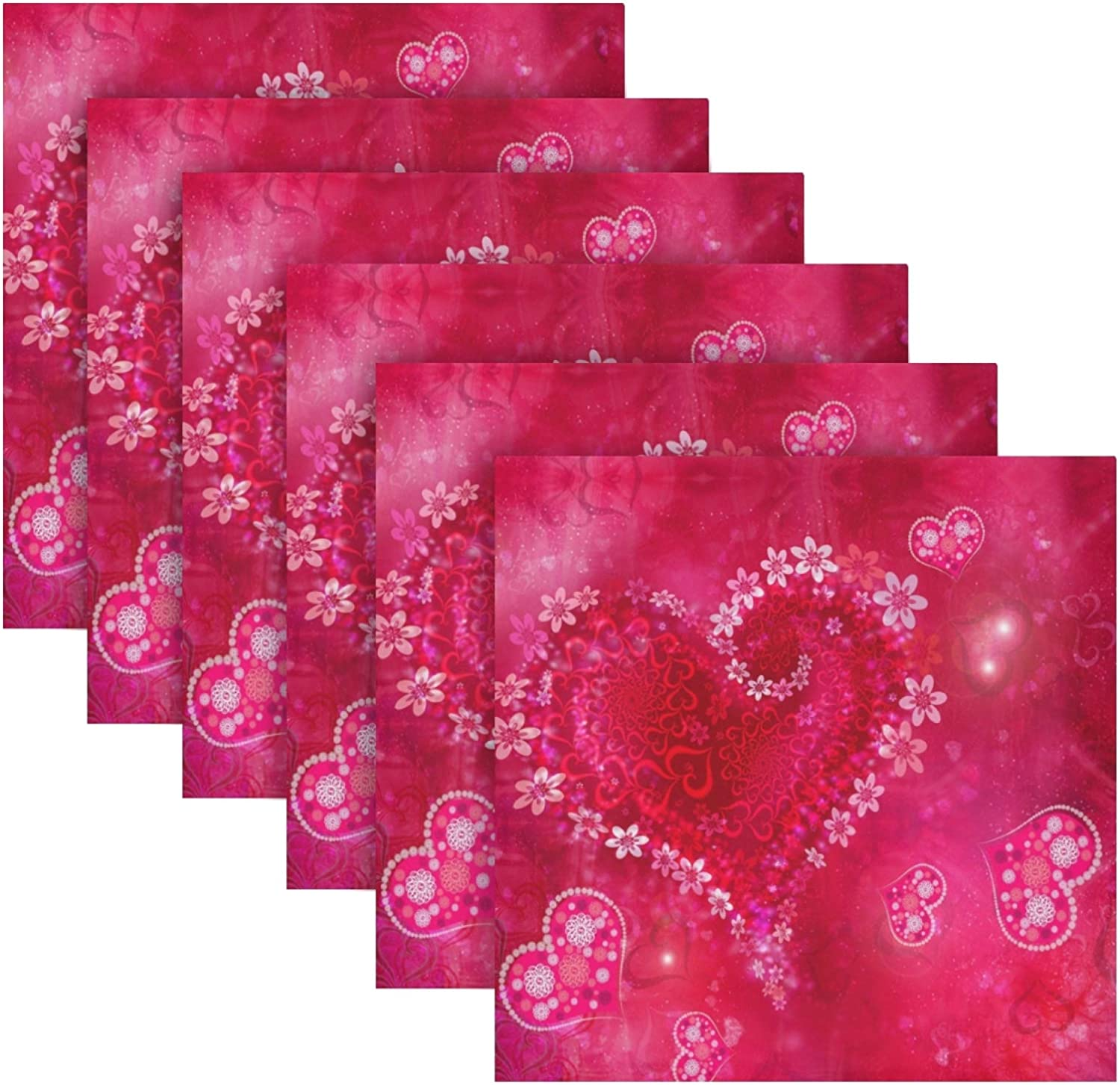 ALAZA Valentines Day107 Max 46% Max 71% OFF OFF Cloth Napkins Dinner 6 of Re Set
