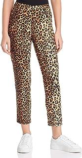 Lucy Paris Womens Nahla Animal Print Cropped Straight Leg Pants