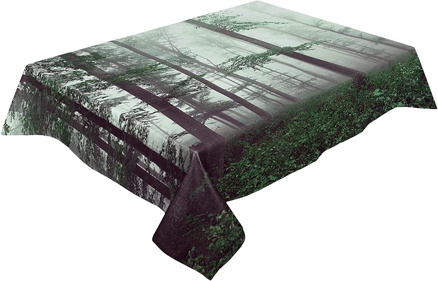 Table Cloth Cotton Linen Wrinkle Free specialty Outlet SALE shop Forest Season Myst Spring