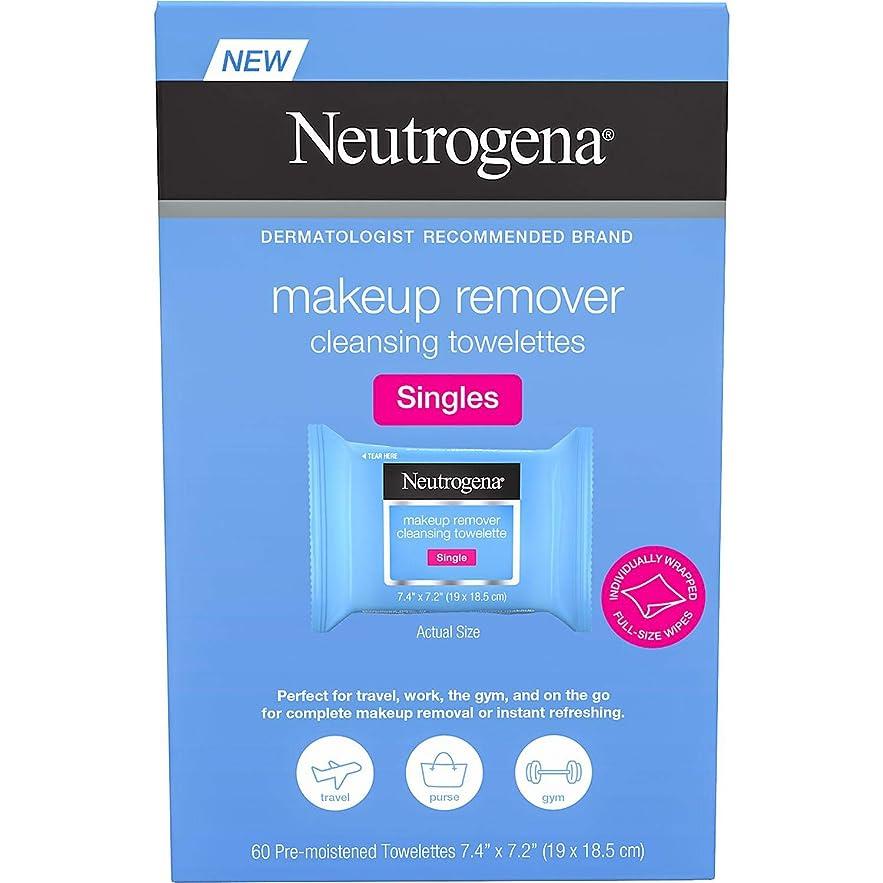 涙が出るやろうぞっとするようなNEUTROGENA Makeup Remover Cleansing Towelettes Singles Pack - 60 Count -1 Pack