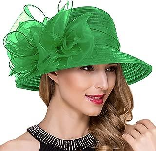 Lady Church Derby Dress Cloche Hat Fascinator Floral Tea Party Wedding Bucket Hat S051