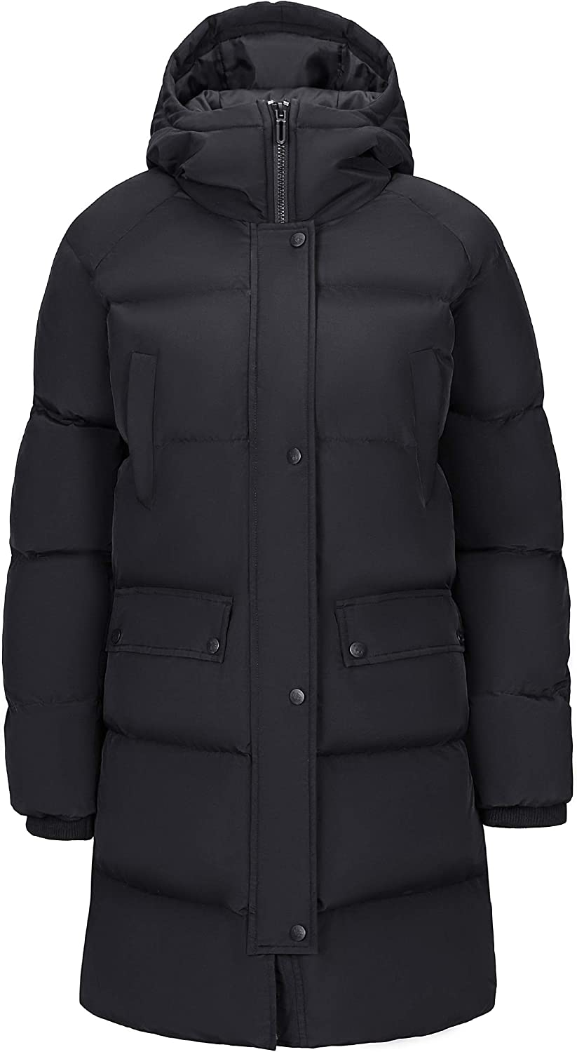 CAMEL Women Puffer Over item handling ☆ Max 80% OFF Long Coat p Windproof Jacket Hooded Thickened