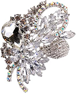 Spilla in diamanti sintetici, a forma di fiore