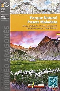 Parque Natural Posets Maladeta, mapa excursionista. Escala 1:25.000. Español, English, Français, Deustch. Alpina Editorial. (CARPETA ALPINA - 1/25.000)