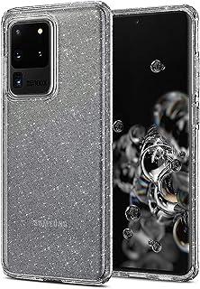 جراب خلفي لموبايل سامسونج جالاكسي S20 الترا Liquid Glitter من سبايجن ACS00710 - شفاف