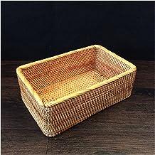 CML Hand-woven Rattan Basket Storage Box Baskets For Organizing Vegetable Fruit Storage Box Organizer (Color : 1PCS, Size...