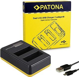 PATONA Cargador de batería Doble LCD USB para EN-EL14 Bateria Adecuado para Nikon D3100 D3200 D5100 D5200 D5300 P7000 P7100 P7700 P7800