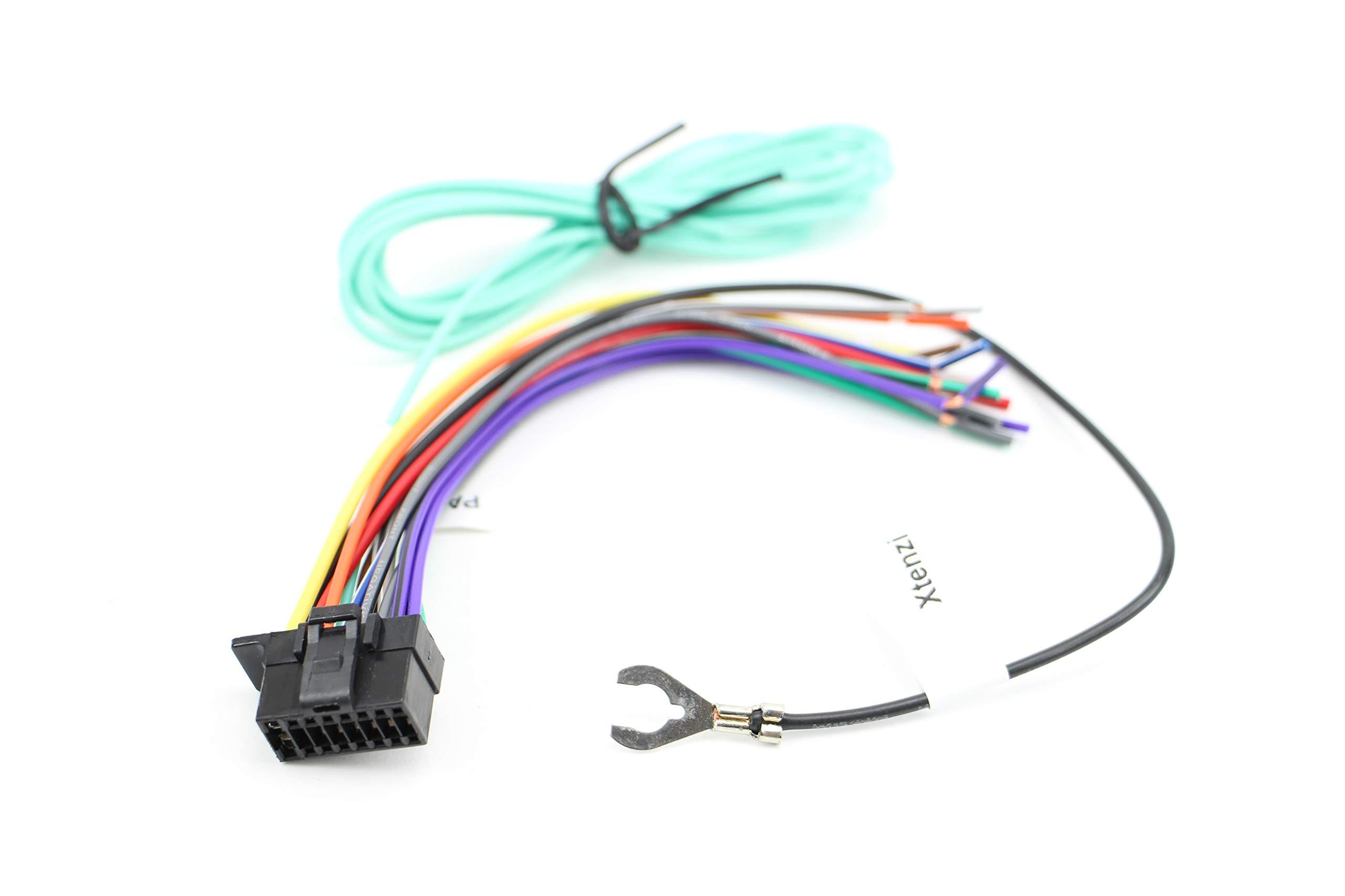 amazon.com: xtenzi 16 pin car radio wire harness compatible with sony cd  dvd navigation in-dash - xt91040  amazon.com